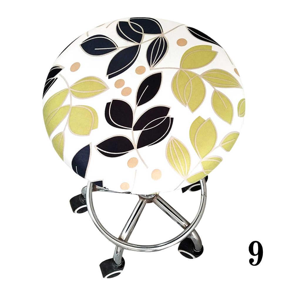 Круглый чехол для кресла с цветочным принтом бар полиэстер четыре сезона домашняя упругое сиденье табурет крышка встречи мягкий орнамент офис