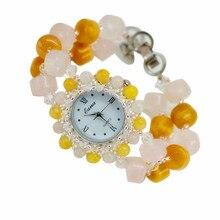 High Quality Women Luxury Natural Topaz Watch Classic jade Bracelet Wristwatch Cozy Fashion Casual Quartz Watch Clock  Hot sell