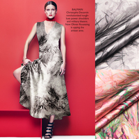 jenny silk double printing silk fabric silk cloth LB stretch satin skirt dress material [long] rushes
