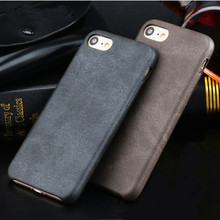 High-quality Classic Vintage PU Leather Capa Case for Apple iphone X XS 7 6 S 6S 8 Plus luxury Ultra Slim Matte Phone Back Cover