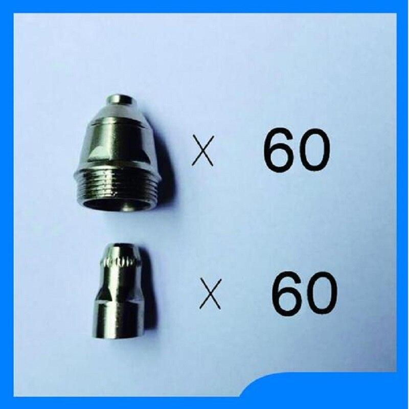 Купить с кэшбэком High Quality 120PCS P80 60PCS P80 Panasonic Air Plasma Cutting Cutter Torch Consumables Nozzles Tips Electrodes Free Shipping