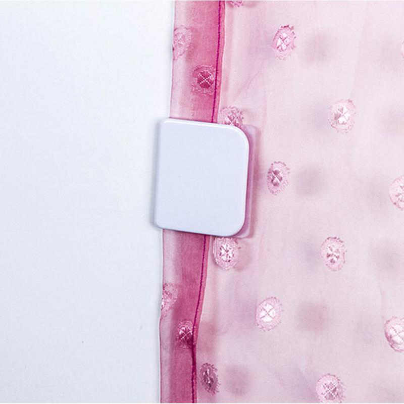 New 2-piece 5.0 * 4.5 Cm Shower Curtain Clips Anti Splash Spill To Drop Water High-quality Toilet Guard Shower Curtain Rings