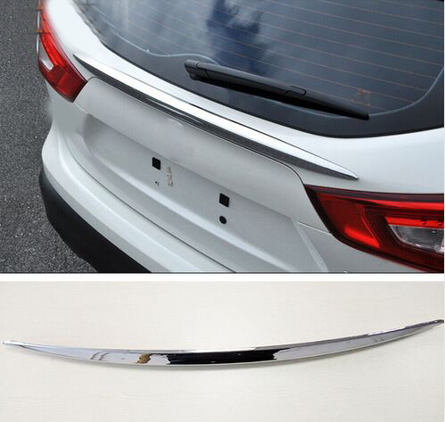 ACCESSORIES FIT FOR 2014 2015-16 nissan QASHQAI J11 CHROME REAR TRUNK HATCH LIFTGATE DOOR SOPILER COVER MOLDING BAR STRIP exterior silver roof rack side rails bars luggage carrier a set for nissan qashqai j11 2014 2015 2016 accessories