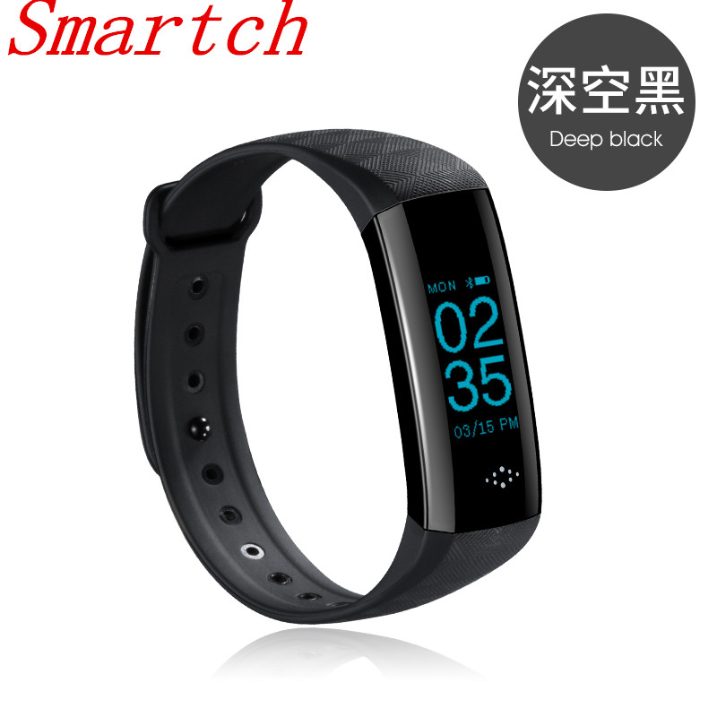 Smartch M2S Smart Band Heart Rate Blood Pressure Pulse Meter Bracelet Fitness Watch Smartband for iOS