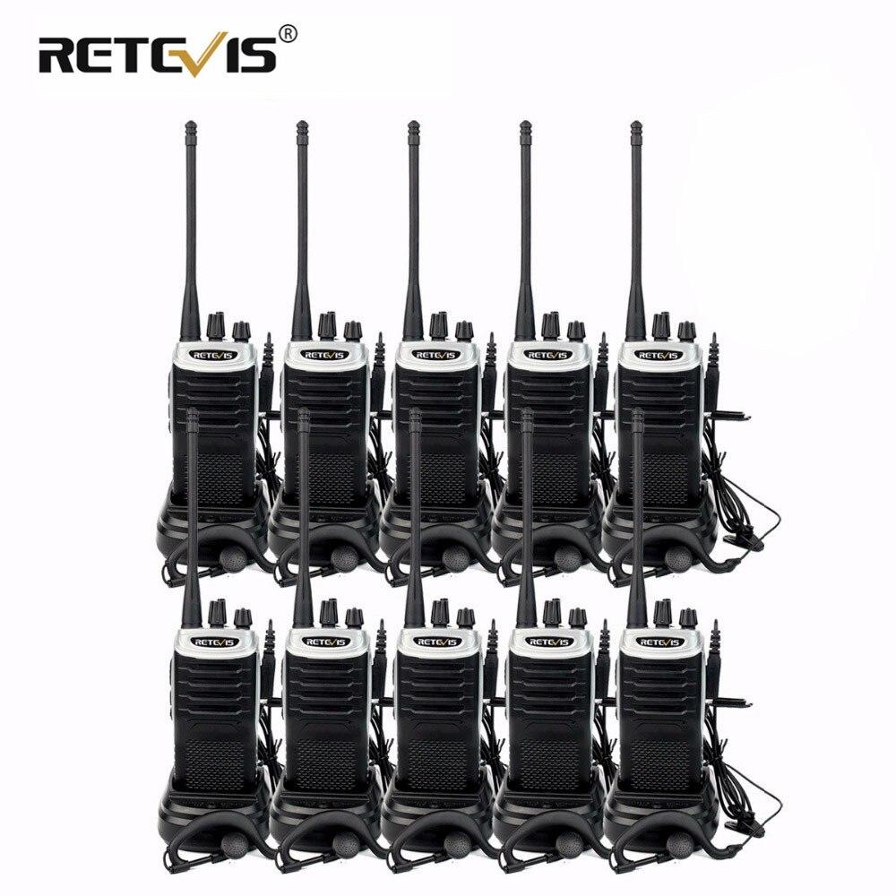 10 sztuk Retevis RT7 Hotel/restauracja poręczny Walkie Talkie zestaw 5W 16CH UHF Radio FM (88  105 MHz) cb Radio Comunicador Transceiver Hf w Krótkofalówki od Telefony komórkowe i telekomunikacja na AliExpress - 11.11_Double 11Singles' Day 1