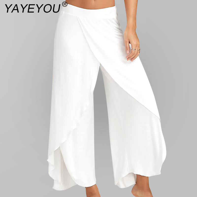 Bottoms Women's Clothing Retro Hot Women Wide Leg High Waist Girls Pant Casual Crop Pants Summer Loose Soft Trousers Outwear Modern Techniques