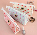ZKT015 women Cosmetic Cases 24*7*15cm new pvc cosmetic bag Hot Korean cute lipstick waterproof travel wash bag admission package