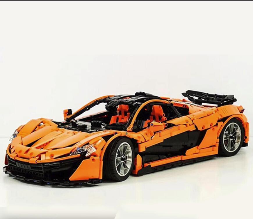 20087 McLaren P1 Hypercar 1:8 technique le MOC-16915 Orange Super voitures de course blocs de construction briques jouet éducatif