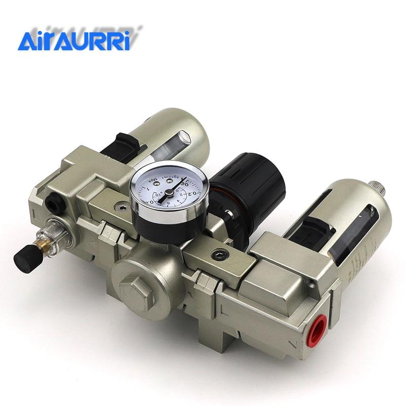 1/2Air Filter Regulator Combination AC4000-04 AC4000-04D F.R.L Three Union Air Source Treatment AF4000 + AR4000 + AL40001/2Air Filter Regulator Combination AC4000-04 AC4000-04D F.R.L Three Union Air Source Treatment AF4000 + AR4000 + AL4000
