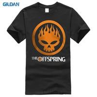Printed T Shirts Online Gildan O Neck New Popular The Offspring Skull Rock Band Black Size