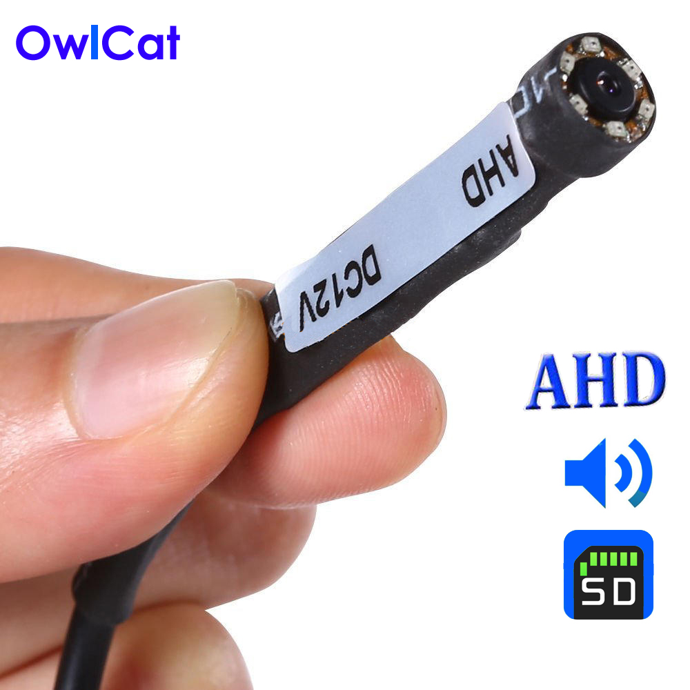 OwlCat Super Mini AHD CCTV Camera HD 720P Built in 940nm Invisible Infrared IR-LED Night Vision with Audio Microphone 3.7mm Lens 5w 940nm infrared ir led emitter silver