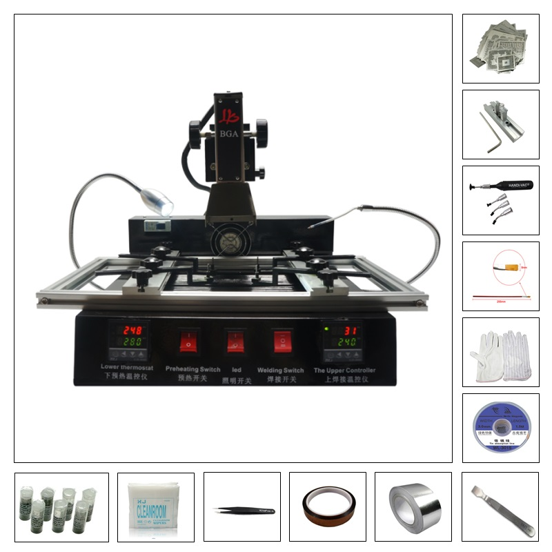 Infrared BGA rework station M770 welding machine with 219pcs directly heating stencil infrared bga rework station m770 welding machine with 810 pcs directly heating stencil