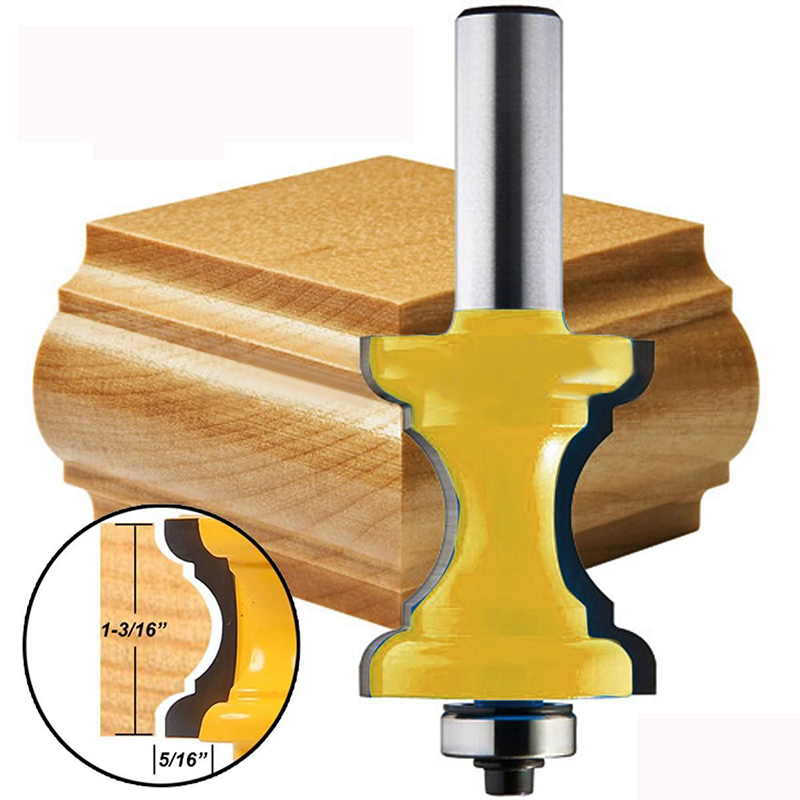 New 1/2'' Shank Bullnose Bead Column Face Molding Router Bit For Woodworking Tools 1 2 shank bullnose bead column face molding router bit alloy woodworking cutter for wood milling machines power tool