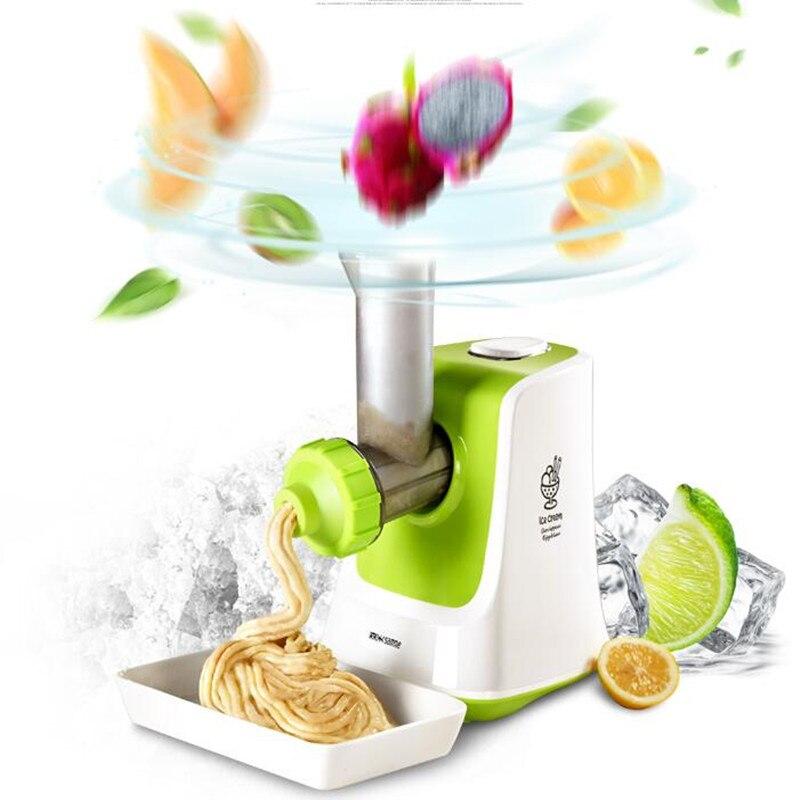 220V Electric Fruit Ice Cream Machine Multifunctional Household Vegetable Shredder Ice Cream / Ice Crusher DIY Summer Dessert