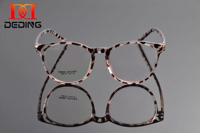 DeDing Elegant Women Shiny Design Cat Eye TR90 Glasses Frame Lady's Attractive Light Weight Comfortable Eye Glasses Frame DD1101