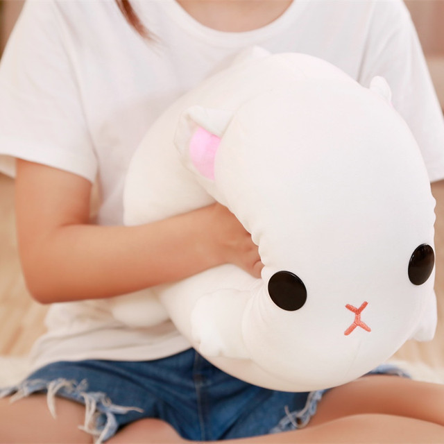 Kawaii White Plush Cat Toy