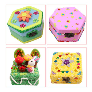 Image 5 - 8 Pieces Unpainted Wood Trinkets Jewelry Storage Box Keepsake Painting Art Crafts DIY Cases