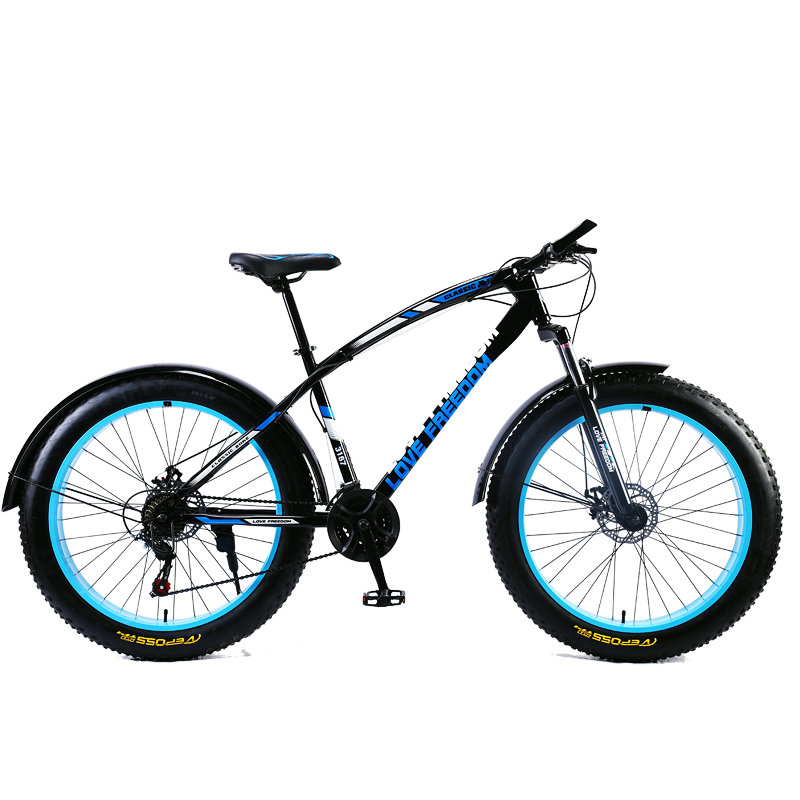 Love Freedom 7/21/24/27 Speed Mountain Bike 26 * 4.0 Fat Tire Bikes Shock Absorbers Bicycle Free Delivery Snow Bike 4