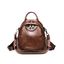 Women's Backpacks Pu Leather Female Bagpack Teenager School Bags Rucksack Ladies Bag Part