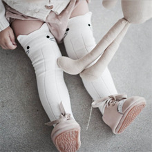 ФОТО cute socks cotton baby socks animal printed knee high socks kids boy girl socks anti slip cartoon cat leg warmers 0-4y!