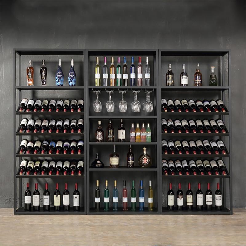 2018 New Design Iron Wine Rack Cabinet Storage