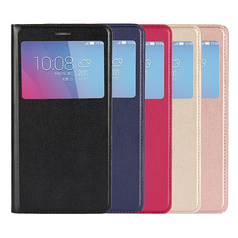 Coque Case Cover Cell-Phone-Bag Etui Huawei Honor Hoesje For 5X Window-View Flip Capa
