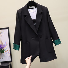Womens suit jacket 2019 autumn new high quality fashion solid color professional wear temperament small
