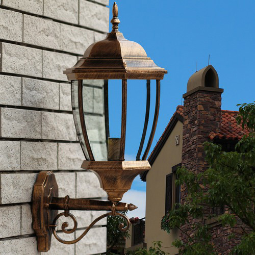 Tower Shape Villa Outdoor Moistureproof Wall Lamps Landscape Wall Lamps European Mediterranean Wall Lamps Corridor Wall Lamps
