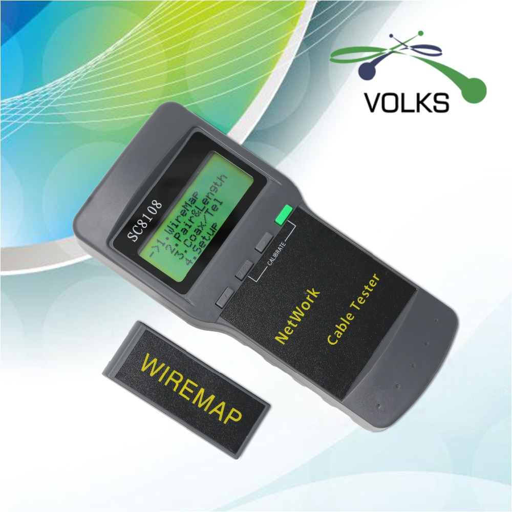 LCD portátil red inalámbrica probador del metro y LAN teléfono probador de Cable y medidor con pantalla LCD RJ45 envío gratis
