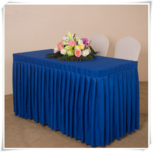 Big discounts!!! 5pcs/lot polyester table skirt 180*40*75cm cheap price for decoration many colors available free shipping