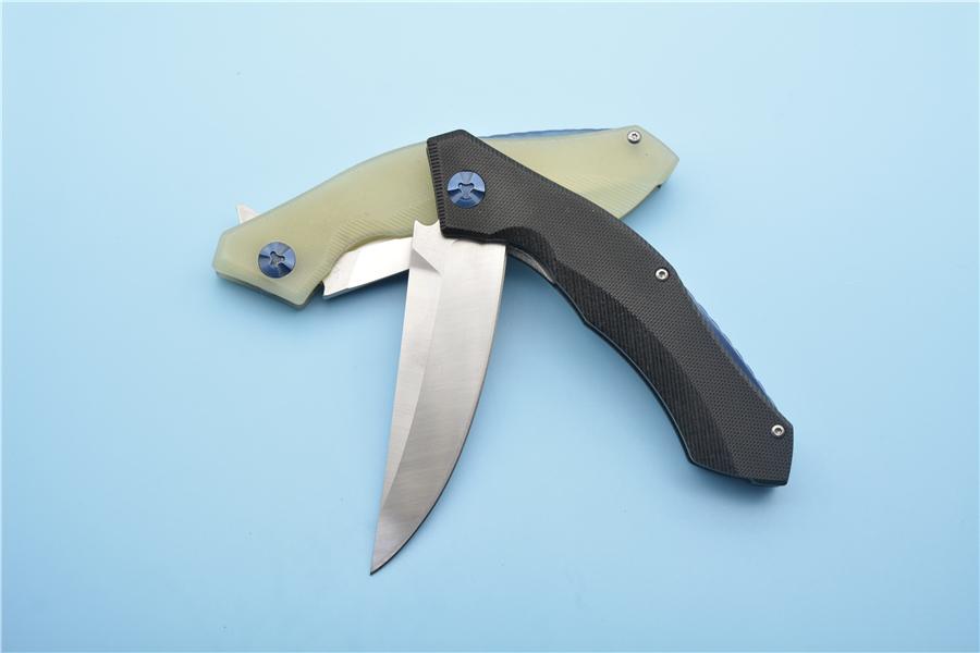 blade handle blue G10 5