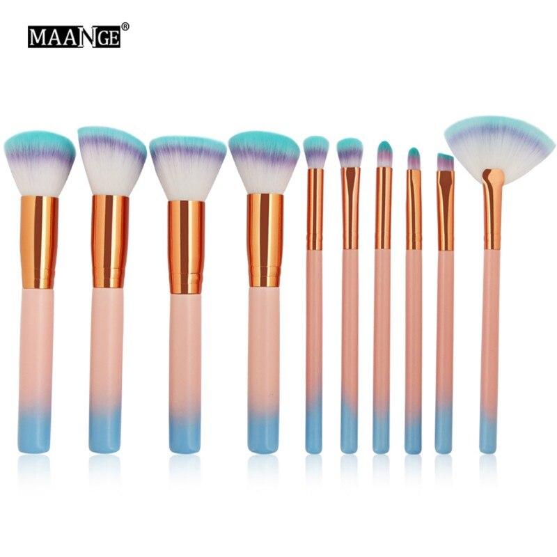 MAANGE 7 PcsMarble текстура макияж кисти набор инструментов Foundatin порошок тени для век Контур Румяна Косметика мраморность вентилятор составляют H8