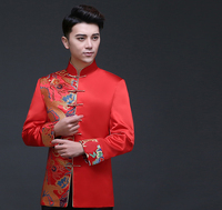 Traditional Men 's Chinese style Groom Gown Top Shirt Men cheongsam Tang Suit Vintage Clothing jacket For overseas Chinese