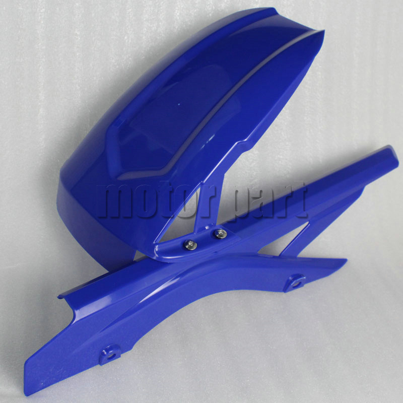 For 2014-2016 Yamaha YZF R3 R25 Motorcycle Rear Fender Dust Mudguard With Chain Guard Fairing Tire Wheel Hugger Protector Blue motoo cnc aluminum rear tire hugger fender mudguard chain guard cover for yamaha mt07 mt 07 2013 2017 fz07 2015 2017