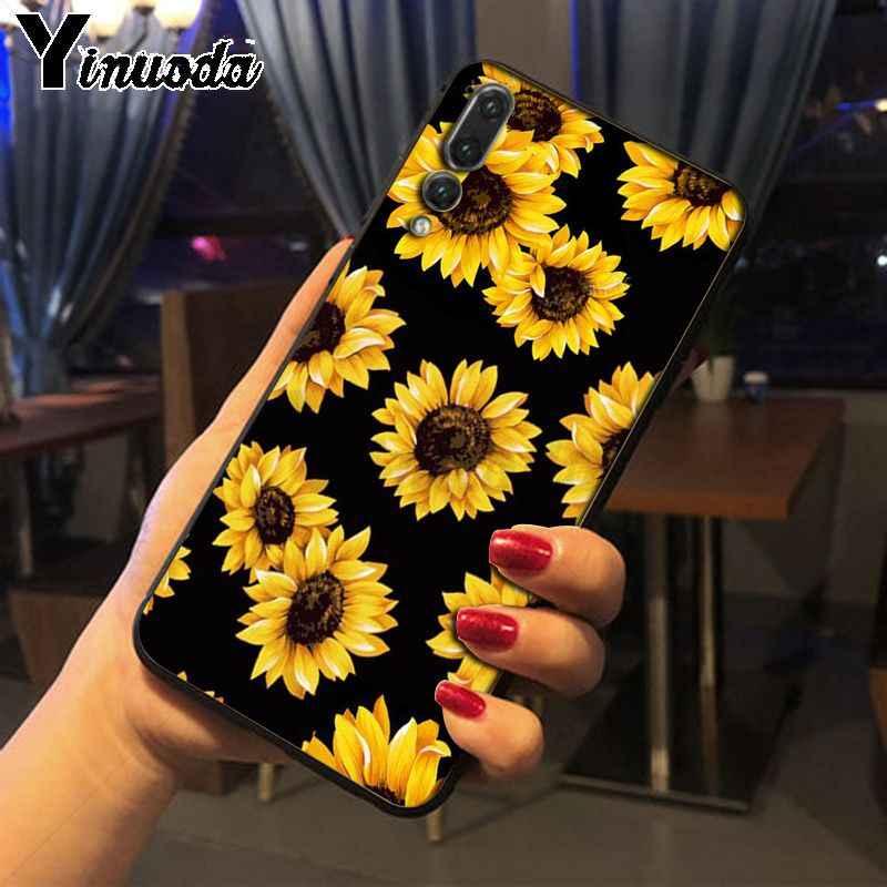 Yinuoda Margarita flor floral verde pintado funda de teléfono para Huawei nova 3i P20Lite Mate10Lite Mate20 P20 Pro honor20 8X cubierta