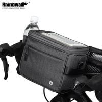 Rhinowalk Outdoor Bike Handlebar Front Bag Touch Screen Mobile Phone Bag 4.5L Large Capacity Storage Bag Panniers