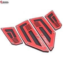 for Yamaha T-Max 530 TMax TMax530 SJ09 2012 2013 2014 2015 4 Pieces Front & Rear Motorcycle Footboard Steps Foot Pegs Plate