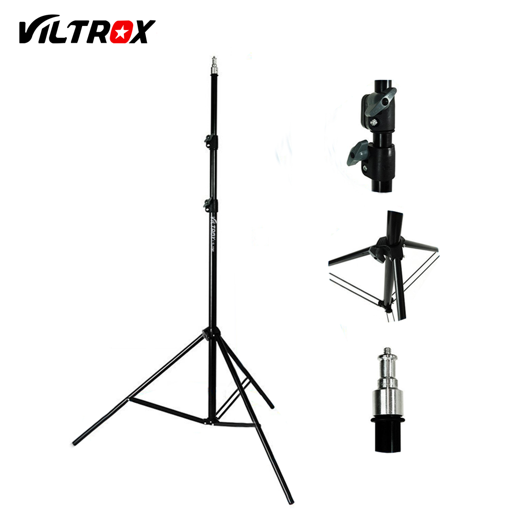 Viltrox 2M Light Stand Tripod with 1/4 Screw Head for Photo Studio Softbox Video Flash Umbrella Reflector Lighting new arrive 240 cm 95 inch portable photo video studio tripod stand for dslr camera speedlite softbox photography light stand