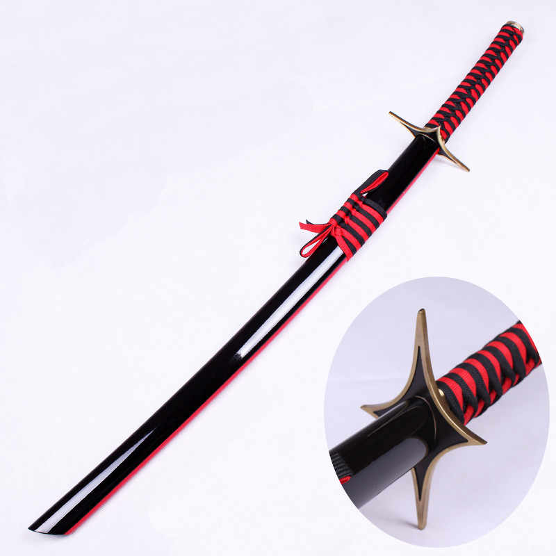 For Bleach Fantasy Anime Samurai Katana Real Sword Cosplay Props Weapons Christmas Decorative Stage Performance Props