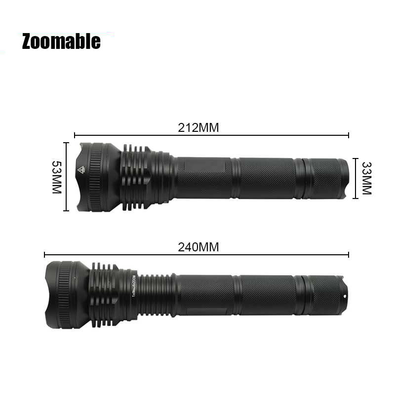XHP50 LED Military Flashlight 5 Modes Tactical Zoom LED Torch Life Waterproof Focusable Self Defense Flash Light For Camping outdoor camping emergency light solar powered led flashlight self defense glare flashlight hammer torch light with power bank