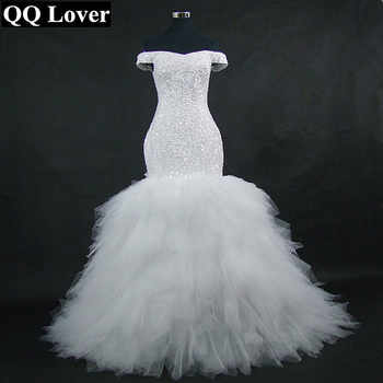QQ Lover 2019 New Off the Shoulder Mermaid Wedding Dress Custom-Made Plus Size Bride African Wedding Gown - DISCOUNT ITEM  0% OFF All Category