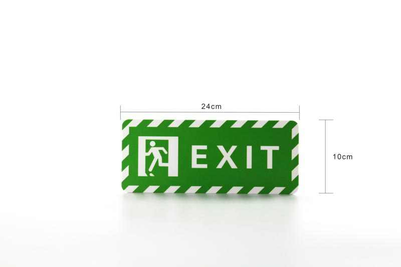 Custom Acrylic Signboard Customization UV Printing Letter Icon Logo Wall  Safety Exit Sign Plate Wall Sticky Signage Board