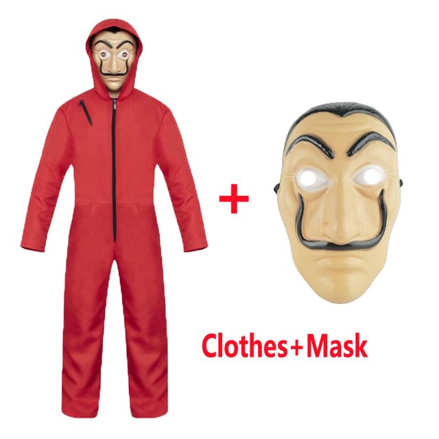 Salvador Dali Cosplay Movie Mask Money Heist The House of Paper La Casa De Papel Cosplay Costume Face Mask for kids adult