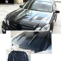 W212 E300 углеродного волокна спереди двигатель вытяжки двигателя автомобиля шляпки для Mercedes Benz W212 E350 lorinser стиль кузова комплект 10 13