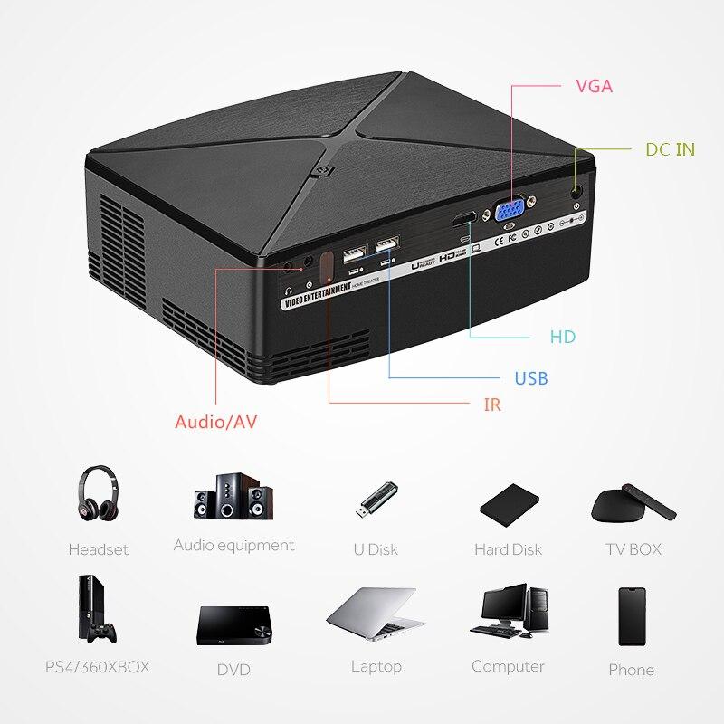 AUN MINI Projecteur C80 UP, Résolution 1280x720, Android WIFI Projuecteur, LED Portable HD Projecteur Pour Home Cinema, Optionnel C80 - 4