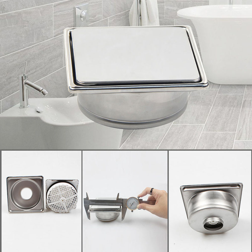 все цены на Talea bathroom gravity flushing floor drains square Shower Drain Cover Stainless Steel Bathroom Water Drainer QF013C001 онлайн