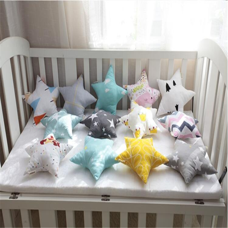 Decorative Pillows For Baby Room : Korean Style Star Pattern Baby Cushion Throw Pillow Office Back Cushion Baby Room Decorative 21 ...