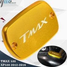 TMAX 530 XP530 płyn hamulcowy zbiornik pokrywa dla Yamaha Tmax530 XP530 Tmax 530 2012 13 14 15 2016 części zamienne do motocykli