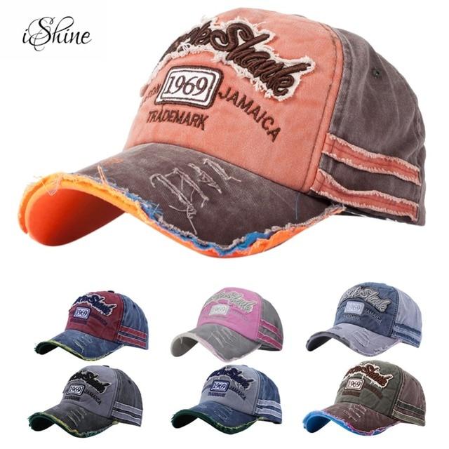 Gorra de béisbol Retro de tela vaquera con letras de retazos al aire libre  ajustable verano 575466f9d44