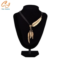 Leaf feather necklace for drop shipping chinese factory csv file order placing available necklace.jpg 200x200